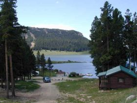 Meadowlark Lake Cabins Big Horn Mountains WY